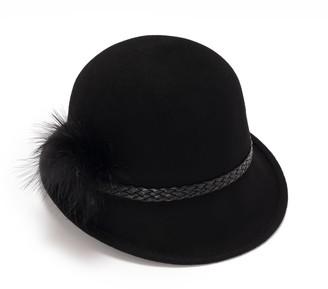 Cloche Vintage Style Black Hat