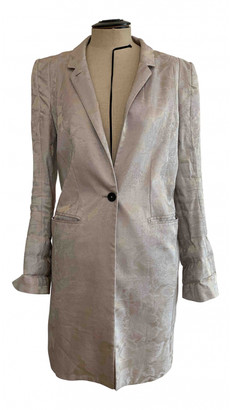 Ann Demeulemeester Silver Cotton Trench coats