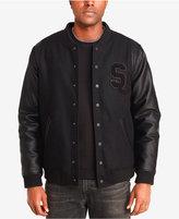 Sean John Men's Mixed-Media Varsity Jacket