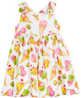 Mayoral Ice Cream Print Sleeveless Dress, Size 12-36 Months