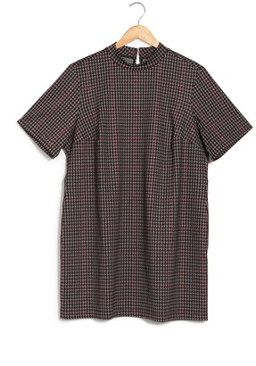 Sanctuary Houndstooth Print Ponte Dress (Plus Size)