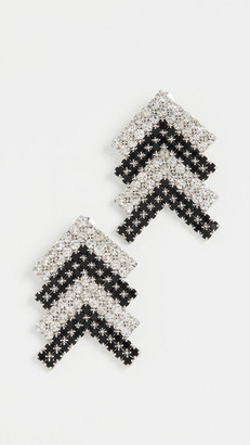 Area Crystal Arrow Earrings