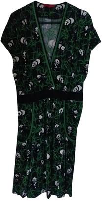 Vivienne Tam Green Silk Dress for Women