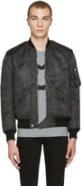 Saint Laurent Black Camo Bomber Jacket