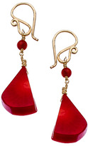 Calico Juno Red Coral Drop Earrings