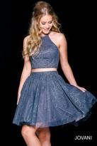Jovani Lovely Two Piece Halter Short Dress 40110