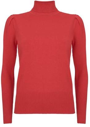 Mint Velvet Red Puffed Sleeve Jumper