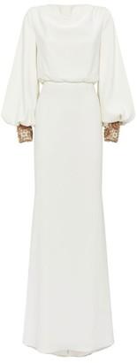 Badgley Mischka Embellished Sleeve Gown