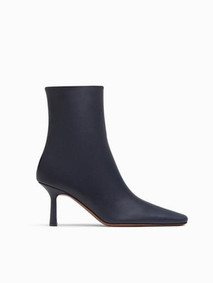 Neous Menea Square Calf Leather Navy Boot