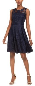 Tahari ASL Lace Fit & Flare Dress