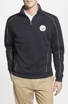 Cutter & Buck Men's Big & Tall 'Pittsburgh Steelers - Edge' Drytec Moisture Wicking Half Zip Pullover