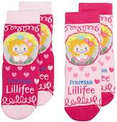 Prinzessin Lillifee Girl's Calf Socks - Pink - 8