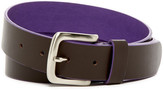 Tailorbyrd Flat Strap Colored Lining Leather Belt