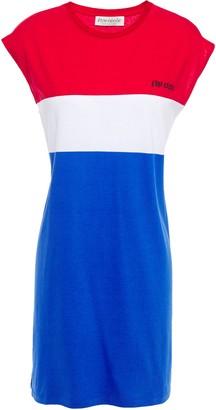 Être Cécile Printed Color-block Cotton-jersey Mini Dress