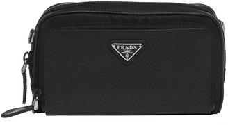 Prada Nylon And Saffiano Leather Camera Bag