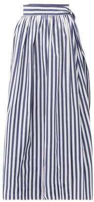 Mara Hoffman Katrine Striped Organic-cotton Midi Wrap Skirt - Womens - Blue Stripe