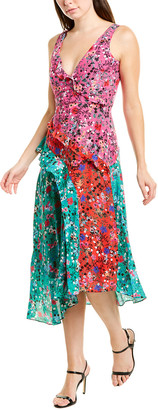Saloni Aggie Silk Midi Dress
