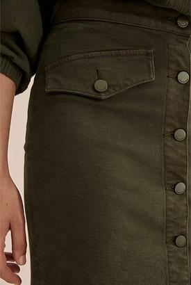 Country Road Button Mini Denim Skirt