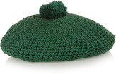 Gucci Crocheted Cotton Beret - Forest green
