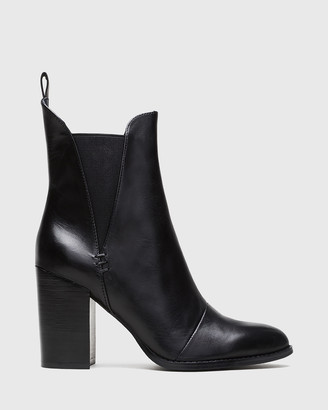 Wittner - Women's Black Heeled Boots - Honesty Block Heel Gusset Ankle Boots - Size One Size, 42 at The Iconic
