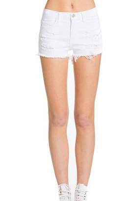 Mila Louise O2 Denim Distressed Denim Shorts