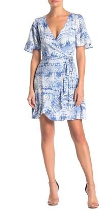 Socialite Kimono Sleeve Wrap Mini Dress