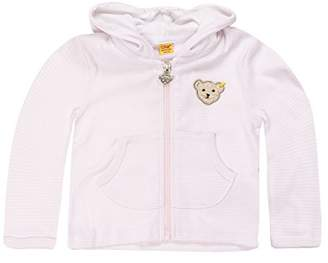 Steiff Unisex baby 0006607 Sweatjacket 1/1 Sleeves Jacket, Pink (Barely Pink), (Months: 6)