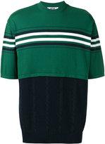 MSGM contrast knit jumper - men - Cotton - S