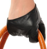 May&Maya Women's Half Palm Premium Leather Driving Gloves Size L
