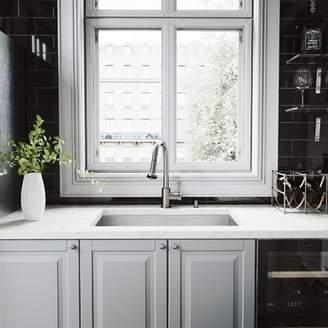 "Ludlow VIGO 30"" L x 19"" W Undermount Kitchen Sink with Faucet, Grid, Strainer and Soap Dispenser VIGO"