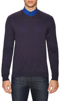 Armani Collezioni Silk Ribbed V-Neck Sweater