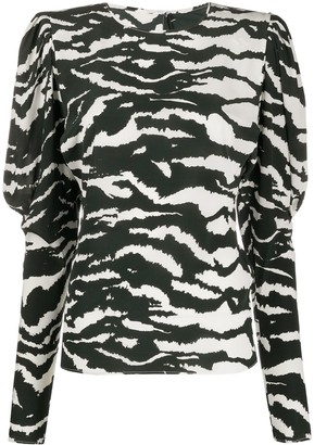 Isabel Marant Favallia zebra-print blouse