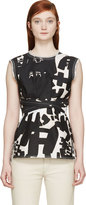Isabel Marant Black Printed Kyla Top