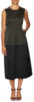Jil Sander Navy Colorblock Skirt Midi Dress