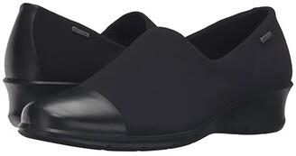 Ecco Felicia GTX Slip-On (Black/Black) Women's Slip on Shoes