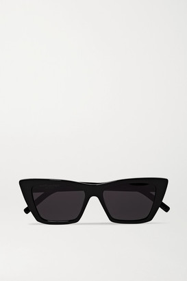 Saint Laurent Mica Cat-eye Acetate Sunglasses - Black