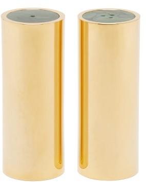 AERIN Lucas Jade-top Salt And Pepper Shakers - Gold