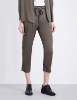 Raquel Allegra Straight cropped georgette trousers
