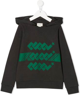 Gucci Kids logo print hoodie