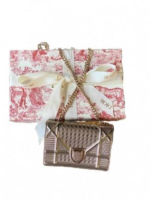 Christian Dior Diorama Gold Patent leather Handbags