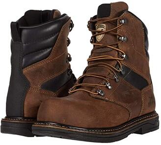 Irish Setter Farmington KT 83860 8 Non-Metallic Safety Toe (Brown) Men's Shoes