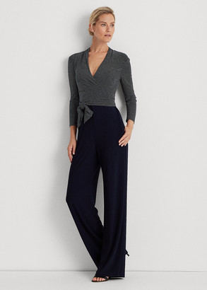 Ralph Lauren Color-Blocked Belted Jumpsuit