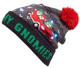 Capelli of New York Women's My Gnomies Led Beanie - Red