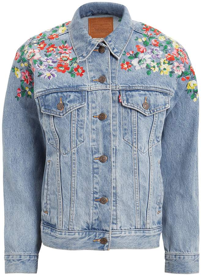 Levi's Embroidered Ex-Boyfriend Trucker Jacket