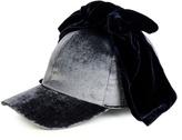 Federica Moretti Billy bow-embellished velvet cap