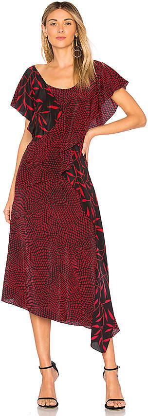 Diane von Furstenberg Draped Ruffle Dress