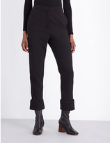 Maje Straight high-rise crepe trousers
