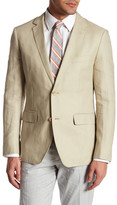 Bonobos Foundation Beige Woven Two Button Notch Lapel Cotton Standard Fit Jacket