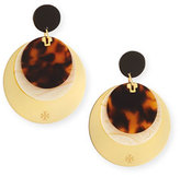 Tory Burch Layered Tortoiseshell Disc Earrings
