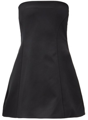 KHAITE Ginger Bandeau Structured Mini Dress - Black